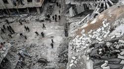 """Bị dội """"mưa"""" hỏa lực, phiến quân bỏ vũ khí chạy khỏi thủ đô Syria"""