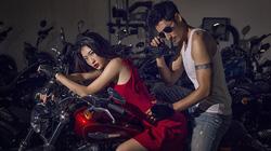 Siêu mẫu tạo hình bên môtô đốn tim phái mạnh