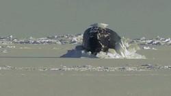 Cận cảnh tàu ngầm hạt nhân Mỹ phá nát tảng băng Bắc Cực