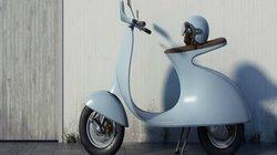Hút mắt mẫu xe điện mang phong cách Vespa cổ điển