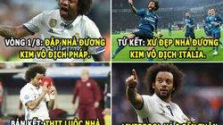 """ẢNH CHẾ BÓNG ĐÁ (12.5): Marcelo """"dằn mặt"""" Liverpool, Lewandowski bị """"hớ"""""""