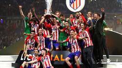 CHÙM ẢNH: Atletico Madrid tưng bừng đón chiếc cúp Europa League thứ 3
