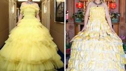 Cô nàng mang cả chục kg sầu riêng chỉ để nhại chiếc váy của sao