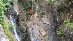 Clip cận cảnh thác dữ Lao Phào 7 tầng, nơi phát hiện thi thể nam phượt thủ