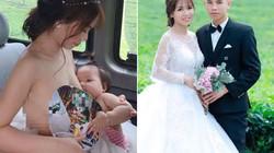 Cô dâu vén váy cho con bú trên xe hoa HOT nhất tuần