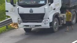 Clip: Xe tải dừng tại làn khẩn cấp, xả rác ở cao tốc HN - Hải Phòng