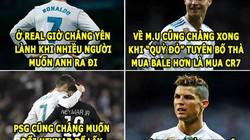 """ẢNH CHẾ BÓNG ĐÁ (12.6): Ronaldo bị """"bỏ rơi"""", Messi đau khổ trong tim"""