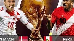 Nhận định, dự đoán kết quả Đan Mạch vs Peru (23h00 ngày 16.6): Nam Mỹ lép vế