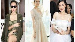 Á hậu Tú Anh mặc váy chiết eo ôm sát giữa tin đồn mang thai 3 tháng