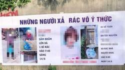 Hai người bị chụp ảnh, bêu tên trên tấm phông bạt vì xả rác nơi công cộng