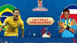 Lịch thi đấu và phát sóng World Cup 2018 ngày 22.6: Brazil có 3 điểm?