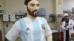 Bức tượng Messi to như người thật làm từ sô cô la