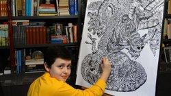 Tài năng không thể tin nổi của thần đồng vẽ động vật từ trí nhớ