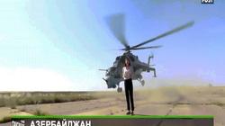 Video trực thăng suýt chém vào đầu nữ phóng viên Nga liều lĩnh