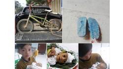 Bán đấu giá xe đạp, đôi dép của em bé đạp xe hơn 100km thăm em