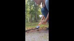 Cô gái liều mạng giải cứu rắn mắc kẹt đầu trong lon bia