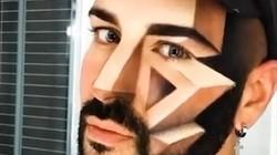 """Chàng trai """"phù phép"""" khuôn mặt thành tranh 3D nhờ tài make up tuyệt diệu"""