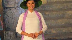 Hoa hậu Ngọc Hân khoe sắc tại Festival Nghề truyền thống Huế 2019