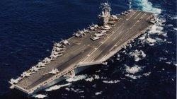 UAV Iran ghi hình cận cảnh tàu sân bay Mỹ đang hoạt động trên biển