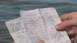 Đi bộ ven hồ, tìm thấy lá thư viết một ngày trước thảm kịch 11.9 ở Mỹ