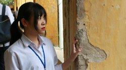 Thầy trò trường THPT Trương Định vừa học vừa lo tường đổ, vữa rơi