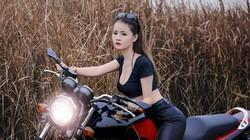 Hot girl mô tô bật mí về mốt mặc quần da bó sát chạy xe
