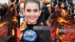 """""""Mãn nhãn"""" ngắm Trương Thị May mặc áo dài, khăn choàng rồng bay nổi bật tại Cannes"""