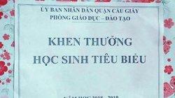 Thư ngỏ của Phòng GDĐT Cầu Giấy về tặng học sinh hộp quà rỗng