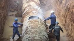 Đường ống nước sạch sông Đà cấp cho Hà Nội gặp sự cố