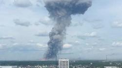 Hình ảnh nổ nhà máy sản xuất bom ở Nga, 85 người bị thương