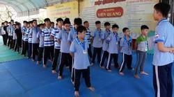 Ảnh: Gần 300 học sinh lên chùa học đạo đức ở Làng Sen quê Bác