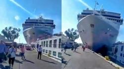 Du thuyền khổng lồ mất lái đâm thẳng vào tàu nhỏ ở Venice