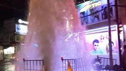 Nguyên nhân không thể ngờ khiến nước phun như vòi rồng trên phố Sài Gòn