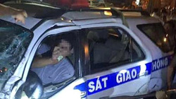 Vụ xe CSGT đâm chết người: Đình chỉ công tác cán bộ lái xe