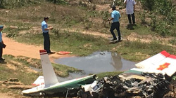 ẢNH-CLIP: Hiện trường vụ rơi máy bay ở Khánh Hòa, 2 phi công tử nạn