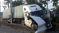 Tạm giữ tài xế xe container tông xe 4 chỗ khiến 5 người tử vong