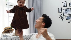 Quốc Nghiệp gây sốc khi diễn xiếc cùng con gái chỉ mới 6 tháng tuổi