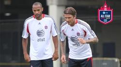 Beckham và Henry sắp đối đầu với Chelsea