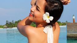 Hoa hậu Diễm Hương tung váy giữa biển xanh