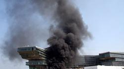 Cháy lớn gần Trung tâm hội nghị Quốc gia, khói mù trời