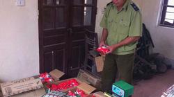 Cửa hàng tạp hóa đóng gói hàng giả