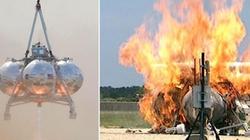 Thiết bị đổ bộ của NASA bốc cháy khi thử nghiệm