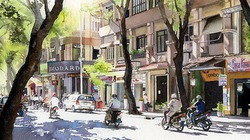 Việt Nam đẹp lạ lùng trong loạt tranh của họa sĩ Nhật Bản