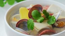 Canh ngao đậu hũ mát lành cho ngày oi nóng