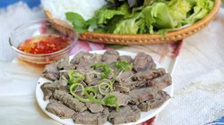 Bữa chiều ngon với thịt bắp bò luộc gừng sả