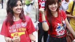 Fan nữ rực rỡ, hút mắt trong buổi giao lưu với sao Arsenal