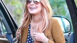 Lindsay Lohan cười tươi rói vì được ra trại
