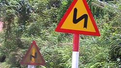 Bức xúc vì biển báo chỉ dẫn... chạy thẳng xuống vực