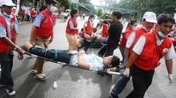 Hỗ trợ người tham gia chữ thập đỏ bị tai nạn