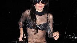 """Lady Gaga diện đồ trong suốt, """"phơi"""" nội y bé xíu"""